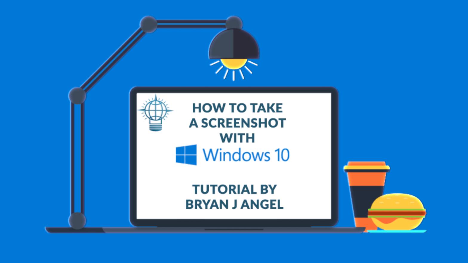 How to take a Screenshot Thumbnail Graphic