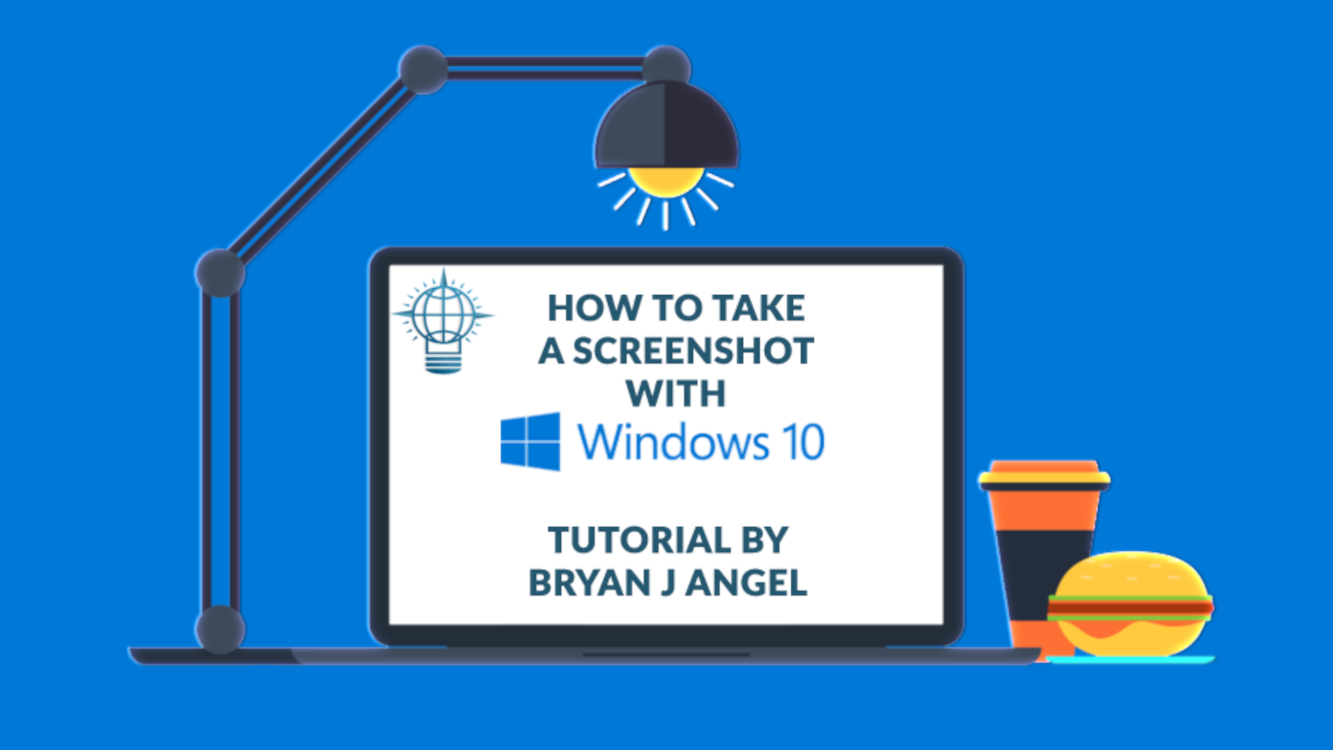 How to take a Screenshot Thumbnail Graphic