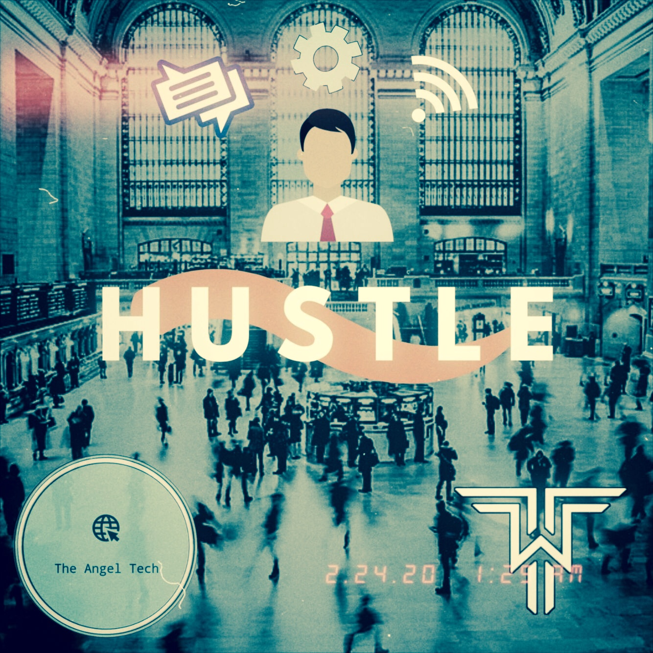 Hustle graphic design cover